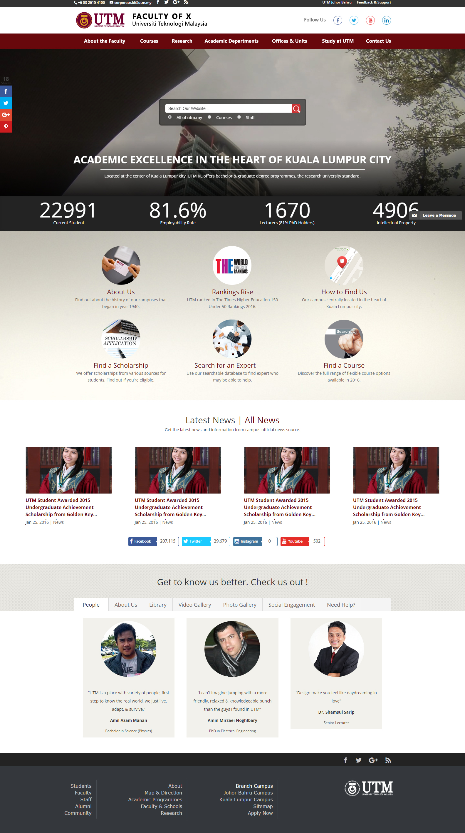 Web templates utm brand new web template for faculties pronofoot35fo Image collections
